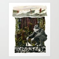 Surfing The History Of Trees Art Print