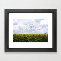 Sunflower Delight - Psal… Framed Art Print
