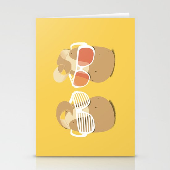 Cool Potatoes Stationery Card