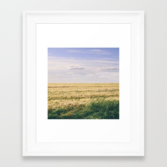 How far you can see? Framed Art Print