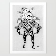 birdhouse head Art Print
