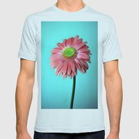 Spring vibes Mens Fitted Tee Light Blue SMALL