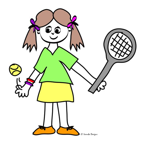 Tennis Girl Art Print