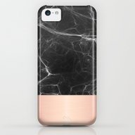 Black Marble And Pink  iPhone 5c Slim Case