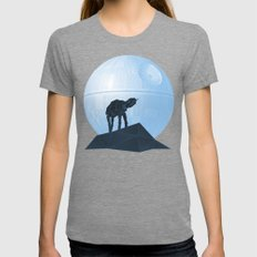 Howl at at the Moon Womens Fitted Tee Tri-Grey SMALL