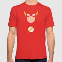 FLASH Mens Fitted Tee Red SMALL