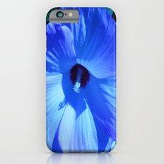 Blue Hibiscus Slim Case iPhone 6s