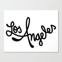 Los Angeles, Hand-Letter… Canvas Print