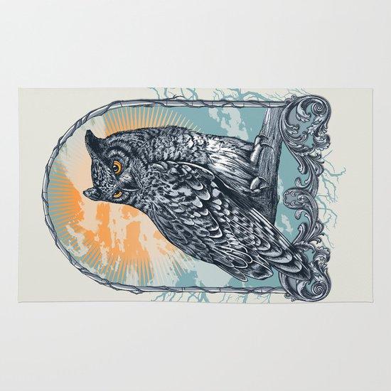 Twilight Owl Area & Throw Rug