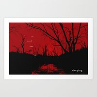 I am haunted when I am sleeping Art Print