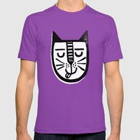 HAPPY CAT Mens Fitted Tee Ultraviolet SMALL