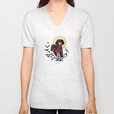 Marjorie the Little Vampire Unisex V-Neck