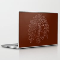 native american Laptop & iPad Skins featuring native american by johanna strahl