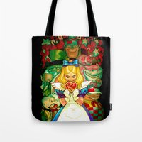 Tote Bag featuring Hello Alice by Sheep-n-Wolves Clothing