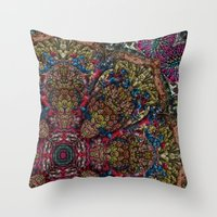Psychedelic Botanical 9 Throw Pillow