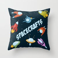 Spacecraft And Rockets F… Throw Pillow