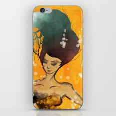 hair girl iPhone & iPod Skin