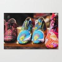 Flea Market Shoes Canvas Print