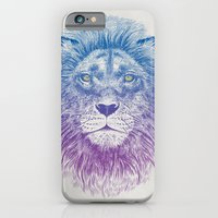 iPhone Cases featuring Face of a Lion by Rachel Caldwell
