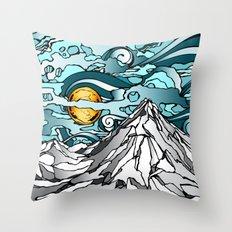 Turquoise Sky Throw Pillow