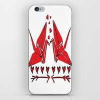Origami Birds In Love iPhone & iPod Skin