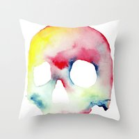 Skull #3 Throw Pillow