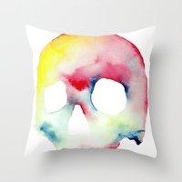 Skull #3 Throw Pillow