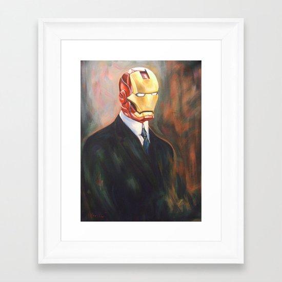 Iron Monsieur Framed Art Print