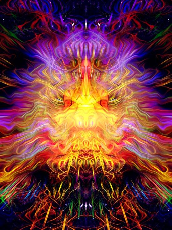 Cosmic Radiation Art Print