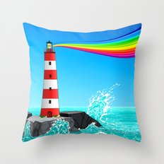 Rainbow Maker Throw Pillow