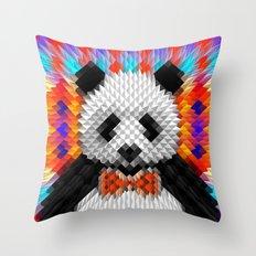 Geo Panda Throw Pillow