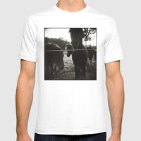 { Pony Pals } Mens Fitted Tee White SMALL