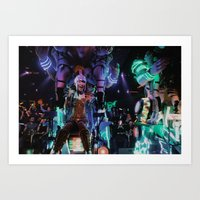 Robot Girl Art Print