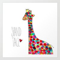 .giraffe. Art Print