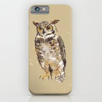 iPhone & iPod Case featuring Great Horned Owl - Gertrude by eastwitching