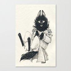 DOMESTIC WEREWOLF Canvas Print