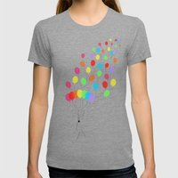 Pure Happiness Womens Fitted Tee Tri-Grey SMALL