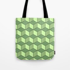 Lime cubes Tote Bag