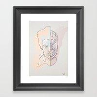 One Line Spiter Parkerma… Framed Art Print