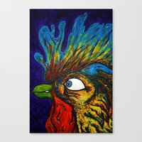 Rooster, Gnarley Canvas Print