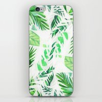 Leaf tropical pattern  iPhone & iPod Skin