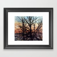 Golden Rays 1 Framed Art Print