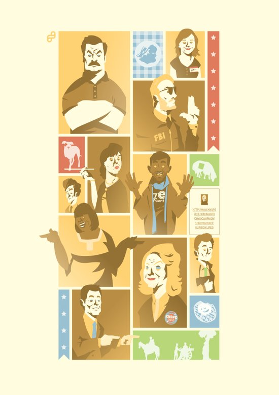 Parks & Rec - Dammit Jerry! Edition Art Print