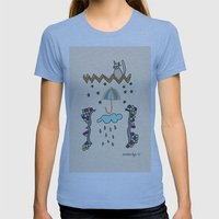 Watching Over Us Womens Fitted Tee Athletic Blue SMALL