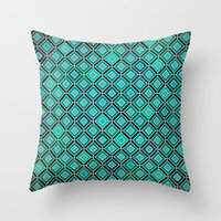 bermuda squares Throw Pillow