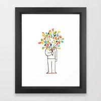 I bring flowers Framed Art Print