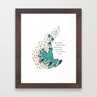 Imaginary Friends Are The Best Friends Framed Art Print