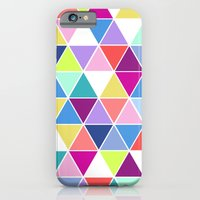 iPhone & iPod Case featuring Multi Colour Triangle; by Michaela Palmer