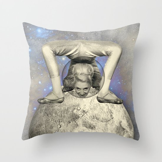 COSMIC CONTORTIONIST Throw Pillow