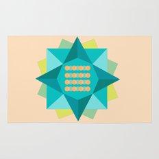 Abstract Lotus Flower - Yoga Print Rug